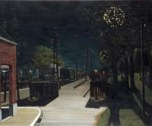 Небольшой железнодорожный вокзал ночью - Дельво, Поль