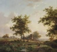Сельский пейзаж с пастухами - Круземан, Фредерик Маринус