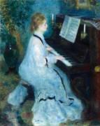 Женщина за пианино - Ренуар, Пьер Огюст