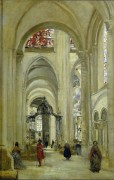 Интерьер кафедрального собора в Сансе - Коро, Жан-Батист Камиль