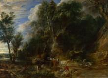 Пейзаж с водопоем -  Рубенс, Питер Пауль