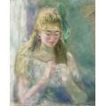 Шьющая девушка, 1875 - Ренуар, Пьер Огюст