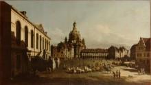 Площадь Нового рынка в Дрездене - Беллотто, Бернардо
