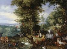 Адам и Ева в Эдемском саду - Брейгель, Ян (Старший)