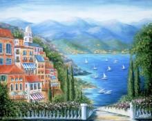 Итальянский городок на берегу моря - Данлап, Мэрилин (20 век)