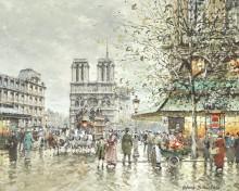 Площадь Сен-Мишель, Собор Парижской Богоматери - Бланшар, Антуан