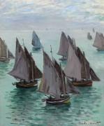 Рыбацкие лодки в штиль - Моне, Клод