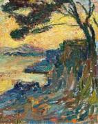 Закат солнца над лагуной - Мартен, Анри Жан Гийом