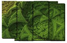 Абстракция зеленая