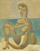 Сидящая купальщица - Пикассо, Пабло