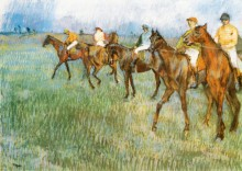 Жокеи под дождем, 1888 - Дега, Эдгар
