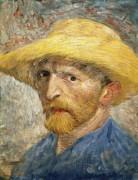 Автопортрет в соломенной шляпе (Self Portrait with Straw Hat), 1887 02 - Гог, Винсент ван