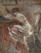 Эскиз  пишущей девушки, 1920 - Больдини, Джованни
