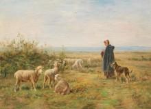 Пастушка на лугу - Шарпен, Альбер