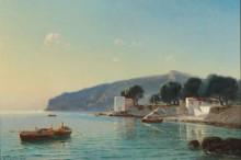 Вид берега с рыбацкими лодками в Южной Италии - Блашке, Анна Эдуардовна