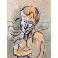 Мужчина со скрещенными на груди руками - Пикассо, Пабло
