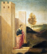 Царица Астинь, покидающая Сузы - Боттичелли, Сандро