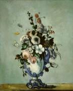 Цветы в вазе эпохи рококо - Сезанн, Поль