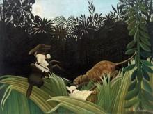 Всадники, атакованные тигром - Руссо, Анри