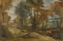 Повозка, едущая через ручей -  Рубенс, Питер Пауль