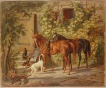Лошади у подъезда - Адам, Альбрехт