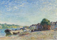 Берега Луан в Санкт-Maммс, 1885 - Сислей, Альфред