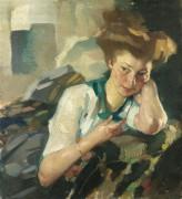 Портрет молодой женщины -  Путц , Лео