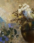 Цветы в черной вазе - Редон, Одилон