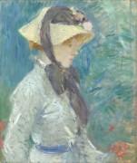 Девушка в соломенной шляпке - Моризо, Берта