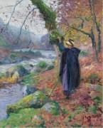 Крестьянская девушка на берегу реки - Мадлин, Поль