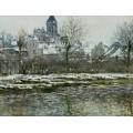 Церковь в Ветёле, снег, 1878-1879 - Моне, Клод
