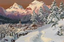 Пейзаж с видом на коммуну Лофер - Арнеггер, Алоис