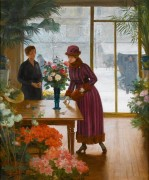 Покупательница цветов - Жильбер, Виктор-Габриэль