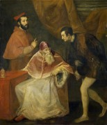 Папа Павел III с племянниками - Тициан Вечеллио