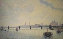 Мост Чаринг Кросс, Лондон, 1890 - Писсарро, Камиль
