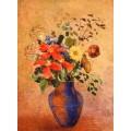 Синяя ваза - Редон, Одилон