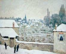 Зима в Лувесьене - Сислей, Альфред