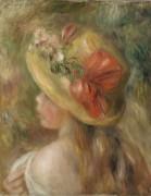 Девушка в шляпке - Ренуар, Пьер Огюст