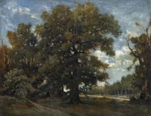 Пейзаж в лесу Фонтенбло - Руссо, Теодор