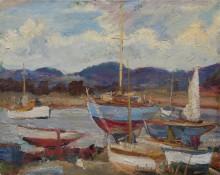 Лодки в Itchenor, Сассекс - Данлоп, Рональд Оссори