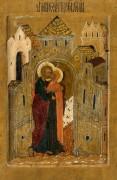 Встреча Иоакима и Анны у Золотых ворот (XVI в)