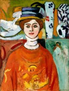 Женщина с зелеными глазами - Матисс, Анри