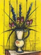 Цветы-бабочки в вазе - Бюффе, Бернар