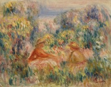 Две женщины в пейзаже - Ренуар, Пьер Огюст