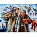 Старые евреи и петух - Афремов, Леонид (20 век)