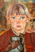 Девочка с бидоном - Григорьев, Борис Дмитриевич