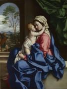Мадонна с обнимая младенца - Сассетта, Стефано ди Джованни