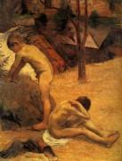 Юные купальщики Бретона, 1888 - Гоген, Поль