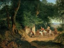 Родник в лесу около Аришии - Рихтер, Густав Карл Людвиг