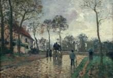Почтовый дилижанс в Лувесьене, 1870 - Писсарро, Камиль